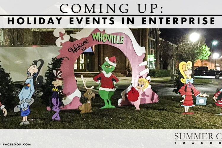 Coming Up: Holiday Events in Enterprise
